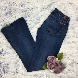 7 For All Mankind Kaylie Flare Dark Jeans 28x34